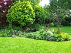 Perfekt gepflegter englischer Garten